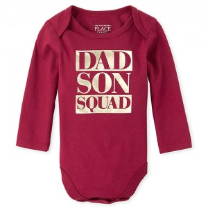 Baby Boys Matching Family Foil Squad Graphic Bodysuit