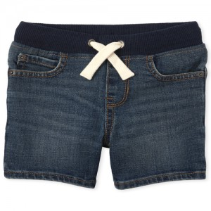 Baby And Toddler Boys Pull On Denim Shorts