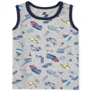 Baby And Toddler Boys Mix And Match Transportation Tank Top