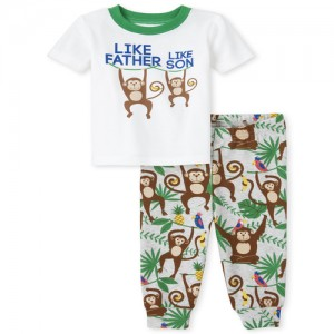 Baby And Toddler Boys Monkey Snug Fit Cotton Pajamas