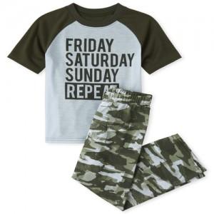 Boys Weekend Camo Pajamas