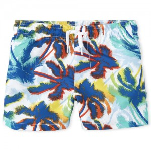 Baby And Toddler Boys Palm Tree Swim Trunks