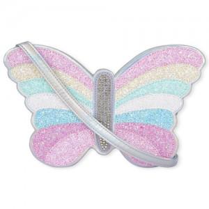 Girls Glitter Butterfly Bag