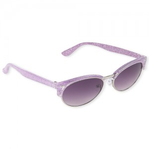 Girls Glitter Retro Sunglasses
