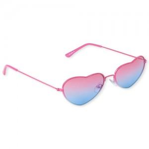 Girls Ombre Heart Sunglasses
