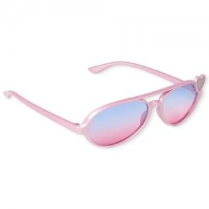 Toddler Girls Glitter Aviator Sunglasses