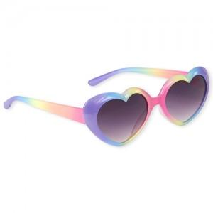 Toddler Girls Rainbow Heart Sunglasses