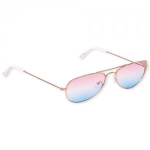 Girls Glitter Flower Aviator Sunglasses