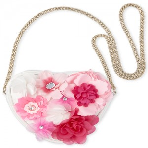Girls Flower Heart Bag