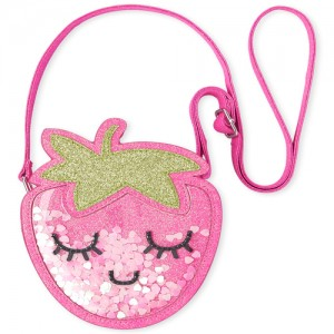 Toddler Girls Shakey Glitter Strawberry Bag
