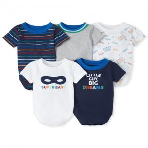 Baby Boys Super Baby Graphic Bodysuit 5-Pack