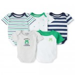 Baby Boys Frog Graphic Bodysuit 5-Pack