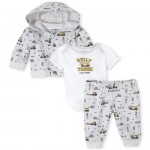 Baby Boys Construction French Terry 3-Piece Playwear Set