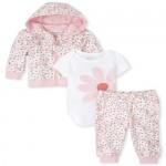 Baby Girls Daisy French Terry 3-Piece Playwear Set