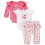 Baby Girls Strawberry 3-Piece Playwear Set