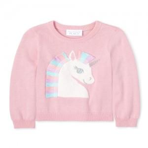 Baby And Toddler Girls Tassel Unicorn Sweater