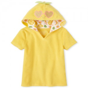 Baby And Toddler Girls Lemon Terry Cover Up