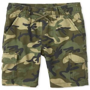 Boys Camo Pull On Cargo Shorts