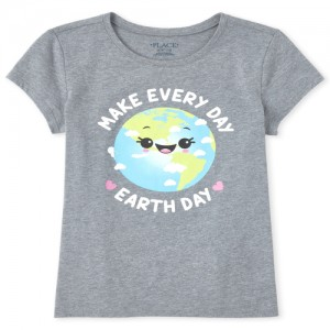 Girls Earth Day Matching Graphic Tee