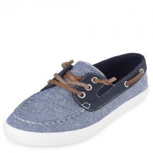 Boys Chambray Boat Shoes