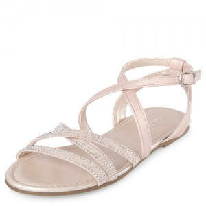 Girls Rhinestud Gladiator Sandals