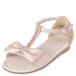 Toddler Girls Glitter Bow T-Strap Sandals