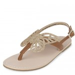 Toddler Girls Glitter Butterfly T-Strap Sandals