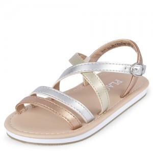 Toddler Girls Metallic Gladiator Sandals