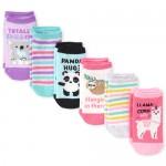 Girls Critter Ankle Socks 6-Pack