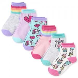 Girls Unicorn Dessert Midi Socks 6-Pack