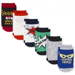 Toddler Boys Ninja Ankle Socks 6-Pack