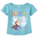 Toddler Girls Disney Frozen 2 Glitter Brave Graphic Tee