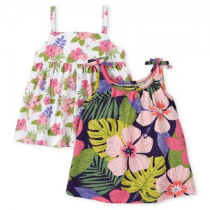 Baby Girls Floral Dress 2-Pack