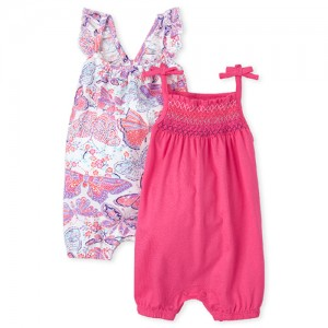 Baby Girls Butterfly Smocked Dress 2-Pack