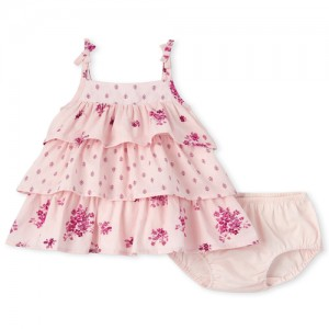 Baby Girls Floral Tiered Dress