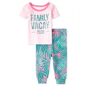 Baby And Toddler Girls Matching Family Vacay 2020 Snug Fit Cotton Pajamas