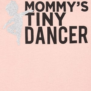 Baby And Toddler Girls Mommy And Me Glitter Dancer Matching Graphic Tee