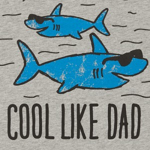 Baby And Toddler Boys Dad Shark Graphic Tee