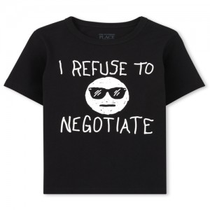 Baby And Toddler Boys Negotiate Graphic Tee