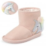 Toddler Girls Unicorn Faux Suede Boots