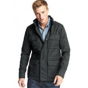 Coated fatigue jacket