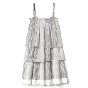 Stripe tier spaghetti dress