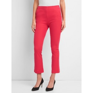 High Rise Crop Kick Pants with Bi-Stretch
