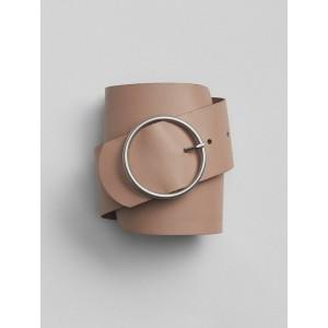 Wide Circle-Buckle Belt
