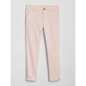 Lace-Up Chinos in Color