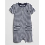 First Favorite Stripe Pocket Shorty One-Piece