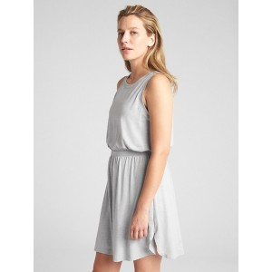 GapFit Sleeveless Cut-Out Dress in Brushed Tech Jersey