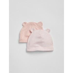 Baby First Favorite Stripe Bear Hat (2-Pack)