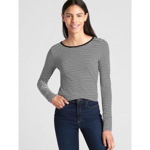 Featherweight Stripe Long Sleeve Crewneck T-Shirt
