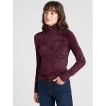 Velour Turtleneck Sweater